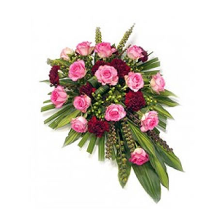 Single Ended Pink Spray | Funeral Flowers